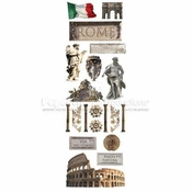 Rome Collection Glitter Rub-Ons by Paper House Productions