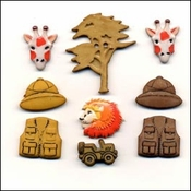 Safari Kingdom Buttons by Buttons Galore