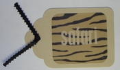 Safari Tan Hand-crafted Tag