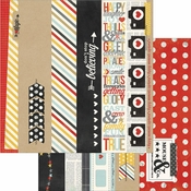 Say Cheese Collection 2 x 12 Borders & 4 x 12 Title Strip Elements Double-Sided Scrapbook Paper by Simple Stories