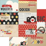 Say Cheese Collection 4 x 6 Horizontal Journaling Card Elements Double-Sided Scrapbook Paper by Simple Stories