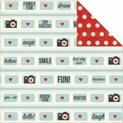 Say Cheese Collection Fun!12 x 12 Double-Sided Scrapbook Paper by Simple Stories
