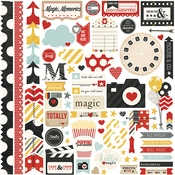 Say Cheese Collection Fundamentals 12 x 12 Scrapbook Sticker Sheet by Simple Stories