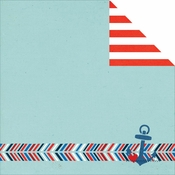 Sea To Shining Sea Collection Ahoy Double-Sided 12 x 12 Scrapbook Paper by Simple Stories