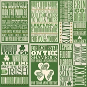 Shamrock Collection 12 x 12 Cardstock Sticker Sheet by Reminisce