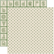 Shamrock Collection Celtic Clover Double-Sided 12 x 12 Scrapbook Paper by Reminisce