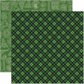 Shamrock Collection Celtic Plaid Double-Sided 12 x 12 Scrapbook Paper by Reminisce