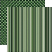Shamrock Collection Celtic Stripe Double-Sided 12 x 12 Scrapbook Paper by Reminisce