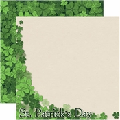Shamrock Collection St. Patrick's Day Double-Sided 12 x 12 Scrapbook Paper by Reminisce