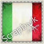 Sightseeing Collection Italy Flag 12 x 12 Scrapbook Paper by Scrapbook Customs (c)