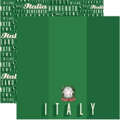 Signature Series Collection Italy Double-Sided 12 x 12 Scrapbook Paper by Reminisce