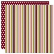 Stripestock Collection Matt Double-Sided 12 x 12 Scrapbook Paper by Reminisce