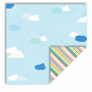 Summer Fun Collection Summer Clouds 12 x 12 Double-Sided Scrapbook Paper by Queen & Co.