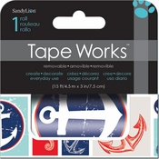 "Tape Works Collection Sea Life 3"" Self-Adhesive Washi Tape by Trends International - 15 Feet"