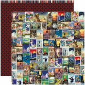Travelogue Collection Wanderlust Double-Sided 12 x 12 Scrapbook Paper by Reminisce