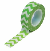 Trendy Tape Collection Green Chevron by Queen and Company