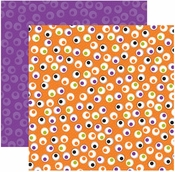Witches Brew Collection 101 Eyeballs Shimmer Double-Sided 12 x 12 Scrapbook Paper by Reminisce