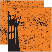 Witches Brew Collection Haunted Twilight Shimmer Double-Sided 12 x 12 Scrapbook Paper by Reminisce