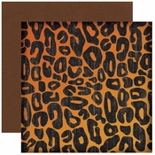 Wild Things Collection Cheetah Print 2-Sided 12 x 12 Scrapbook Paper