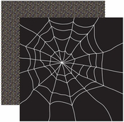 Witches Brew Collection Along Came A Spider 2-Sided Shimmer 12 x 12 Scrapbook Paper
