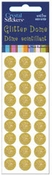 Yellow 10mm Glitter Dome Stickers by Mark Richards
