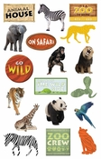 Zoo Collection Die-Cut Sticker Pack by Paper House Productions - 36 Pieces
