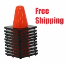 "10 Pack Hockey Cones - 6"" Cones - Free Shipping"