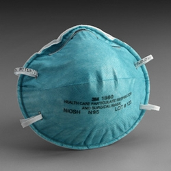 3M 1860 N95 Respirator Mask Swine Flu Mask (by the Case)
