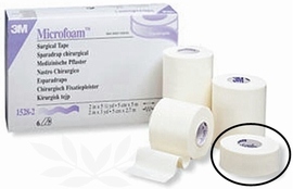 "3M Microfoam 1"" Surgical Tape (Box of 12)"