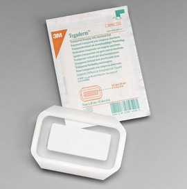 """3M Tegaderm Transparent Dressing with Absorbant Pad (2 3/8""""x4"""") (Box of 50)"""