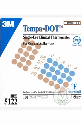 3M Tempa-Dot Thermometer #5122 (Sterile) (Case of 20 Boxes)
