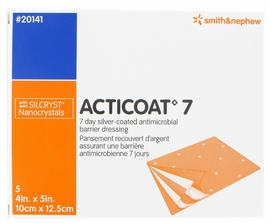"Acticoat 7 Day Antimicrobial Dressing (4""x5"") (Box of 5)"