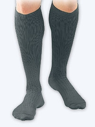 Activa Men's Microfiber Pin Stripe Dress Socks (20-30 mmHg)