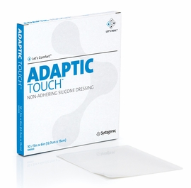 "Adaptic Touch Non-Ahdering Silicone Dressing (5"" x 6""), By the Box of 10"