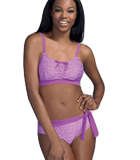 Amoena Combini 14 Pocketed Swimsuit Top, Lilac/White