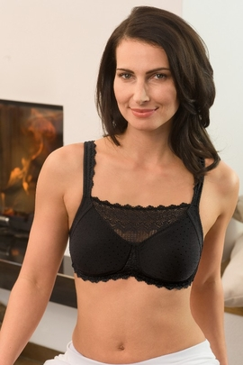 Amoena Dana Camisole Black Pocketed Bra 2750