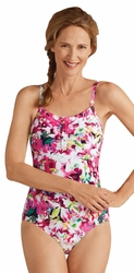 Amoena Delhi Half Bodice Pocketed One Piece Swimsuit 71058
