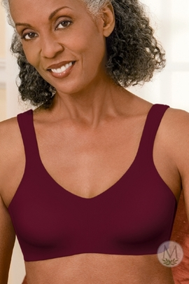 Amoena Jada Seamless Soft Cup Pocketed Bra 2149 (Candlelight or Merlot)