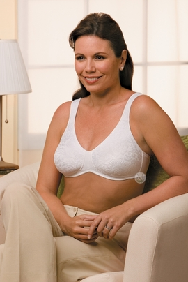 Amoena Jamie Seamless Lace Soft Cup Pocketed Bra 2146