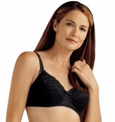 Amoena Karla Lace Underwire Pocketed Bra 44021 - Black