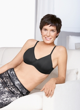 Amoena Lara Black Molded Cup Pocketed Bra 2675