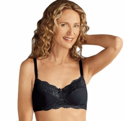 Amoena Lilly Soft Cup Pocketed Bra 44207 - Black