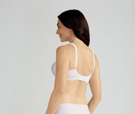 Amoena Nora Soft Cup Pocketed Bra 2555N - White