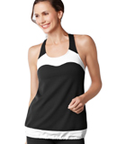 Amoena Racer Back Pocketed Tank Top - Black/White 1009