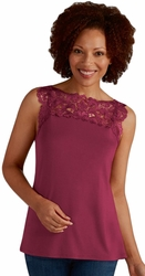 Amoena Reversible Top with Separate Pocketed Bra 44195 - Wild Berry
