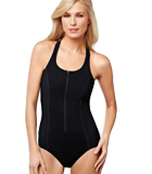 Amoena Solomon Sea Racer-Back Pocketed Tank Swimsuit