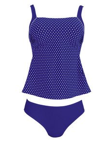 Anita Care Pocketed Two Piece Blue Tankini Swimsuit