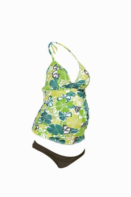 Anita Maternity Kamaka Print Two Piece Tankini Swimsuit L2 9633