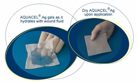 "Aquacel Ag Absorbent Dressing with Hydrofiber (4""x5"") (by the Each)"
