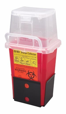 BD Sharps Collector, 105 Qt Phlebotomy with Dual Access (305487)